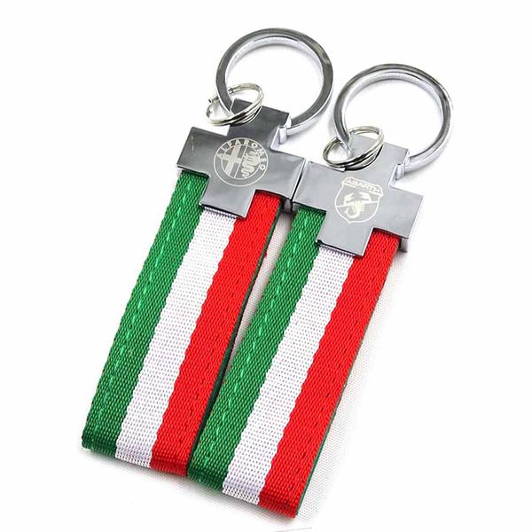 Llavero de bandera de Italia para Alfa Romeo 159 147 156 Giulietta Mito Spider GT para abarth 500 Punto Stilo Freemont Bravo Car-styling