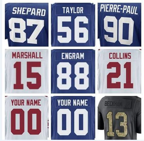 new style 07ea7 0f99b 2019 New York Odell Beckham Jr Giants Jersey Landon Collins Eli Manning  Lawrence Taylor Paul Perkins Phil Simms American Football Jerseys 4xl Usa  From ...