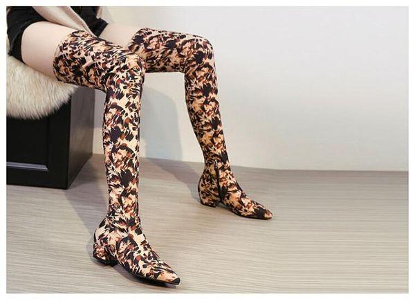 Großhandel Mode Damen Overknee Stiefel Spitz Leopard Dollars Printed Schuhe Slim Stretch G115 Von Giaogiaoo, $106.18 Auf De.Dhgate.Com | Dhgate
