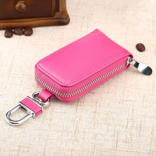 1PCS Leather Car Key Bag Wallet 4 Colors Men & Women Fashion Multi Function Key Case Housekeeper Holders