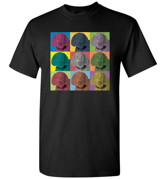 T do t-shirt do Vintage-Estilo do pop art de Weimaraner, tanque da juventude das mulheres dos homens por muito tempo