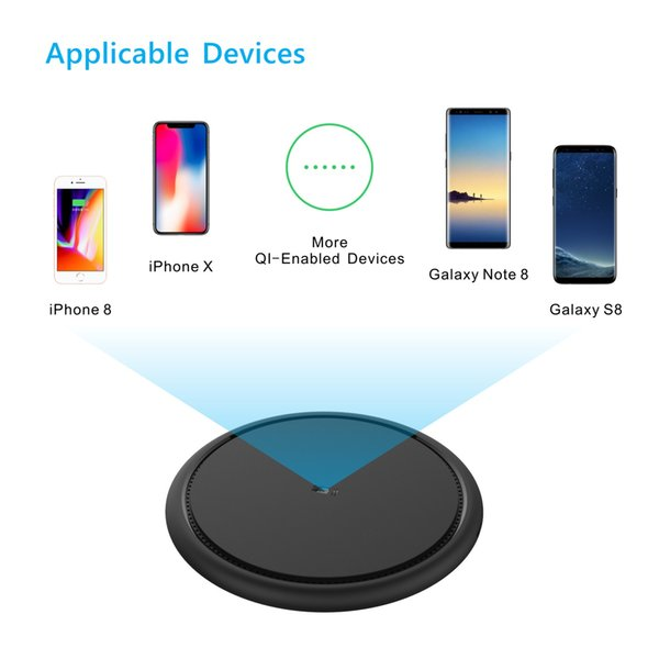 2018 7.5W double-sided cooling Qi wireless fast charger for millet Mix2S Samsung S9 and iPhoneX 8P