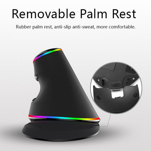 Universal Ergonomics Vertical Gaming Wired Mouse 6 Buttons 4000 DPI Optical RGB Wireless Right Hand Mice PC Laptop
