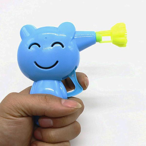Kids Inertia Bubble Gun Toys Set cartoon animal shaped mechanical outdoor toys children summer game gifts