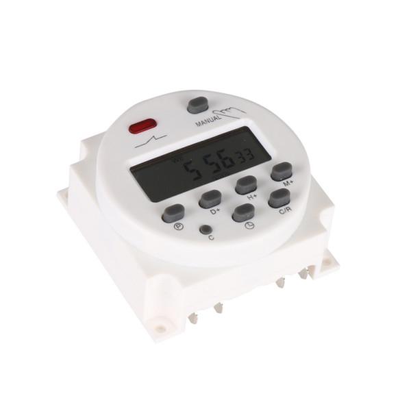 Nuevo Hot DC 12V / 220V Digital LCD Power Timer semanal 7 días Relay 8A TO 16A TIMER 10A mini Interruptor de tiempo programable