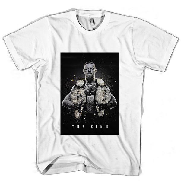 Conor Mcgregor O Rei Ufc Poster Dos Homens / mulheres Camiseta Casual masculino tshirt homens tops tees Frete grátis tees