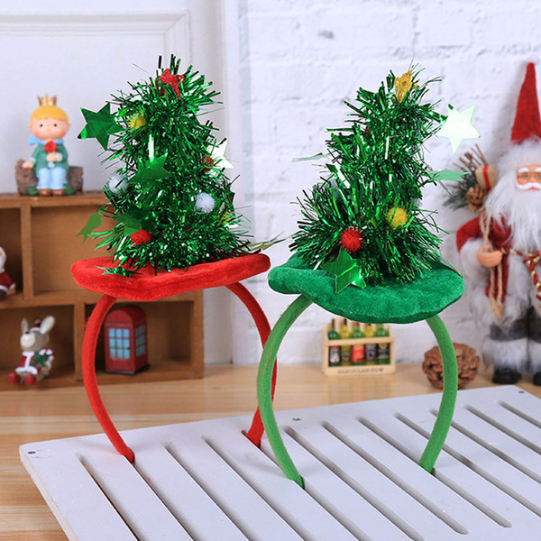 Bandeau Noël Décorations festives Coiffe Red Hat non tissé Bandeau Holiday Party Birthday Party Supplies Emballages cadeaux HH7-1865