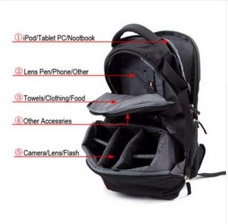 Fast Shipping Waterproof Photography backpack Camera Case Adjustable Camera Bag Backpack for Traveling Explosion-proof