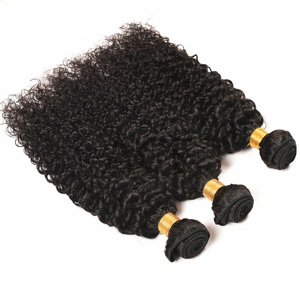 Kinky Curly Malaysian Virgin Hair Bundles Unprocessed Human Hair Weaves Straight Body Deep Loose Natural Wave Can Buy 3 or 4 Bundles