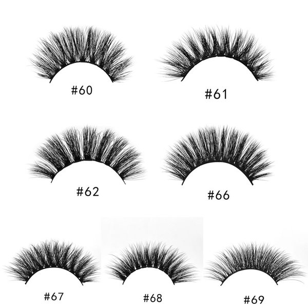 1Pairs/Set 3D Mink Natural Long False EyeLashes Thick Plastic Black Cotton Full Strip Fake Eye Lashes For Party Cosmetic High Quality box