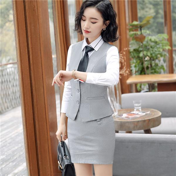 Grey vest+ skirt