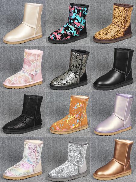 Designer-Stiefel Australian Boots ug Damen Schneestiefel Wasserdichte Leder Winter Warme Outdoor-Stiefel Winterschuhe