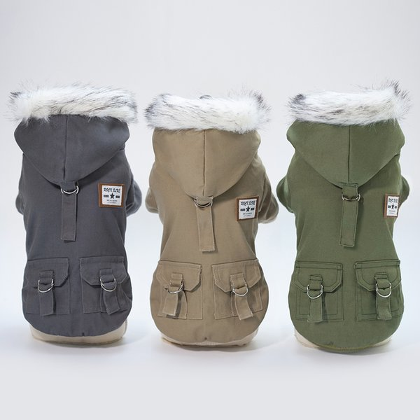 Multi Colors Warm Coats for 2018 Autumn and Winter Dog Clothes Super Soft and Warm Coat with Cap Warm Dog Clothes