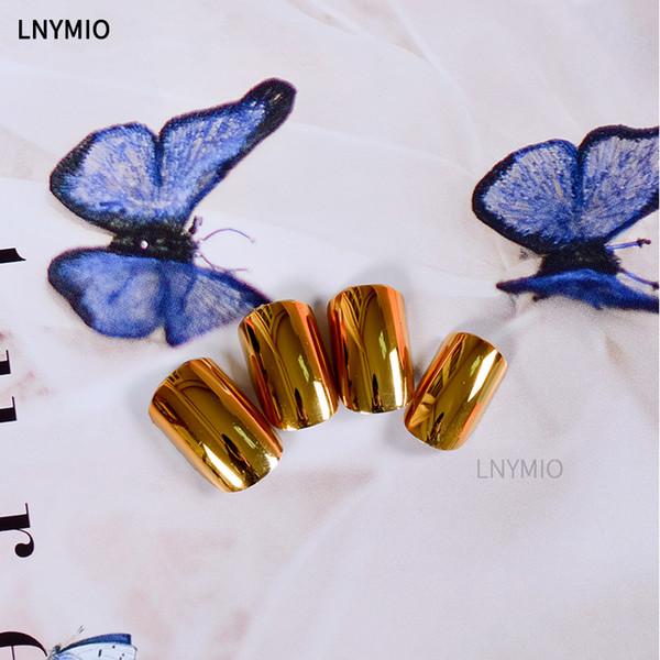 2017 Metallic gefälschte Nägel Multi Farbe Nagel Tipps lila Silber tiefblauen goldenen Presse auf Nägel Frauen Mode 24 Stück Nagel