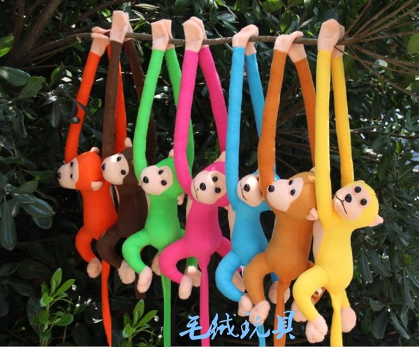 70cm long arm monkey from arm to tail plush toy colorful monkey curtains stuffed animal doll for kids gifts style209kk