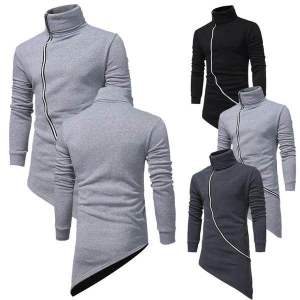 2018 primavera e in autunno gli studenti Han pelle Maniche Tempo libero inclinato Zipper Hoodie giacca cappotto da uomo.