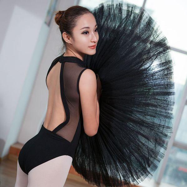 mesh cotton Ballet Leotards For Women Dancewear Adult Dance Practice Clothes Gymnastics Black Ladies Sexy Competition Jumpsuits