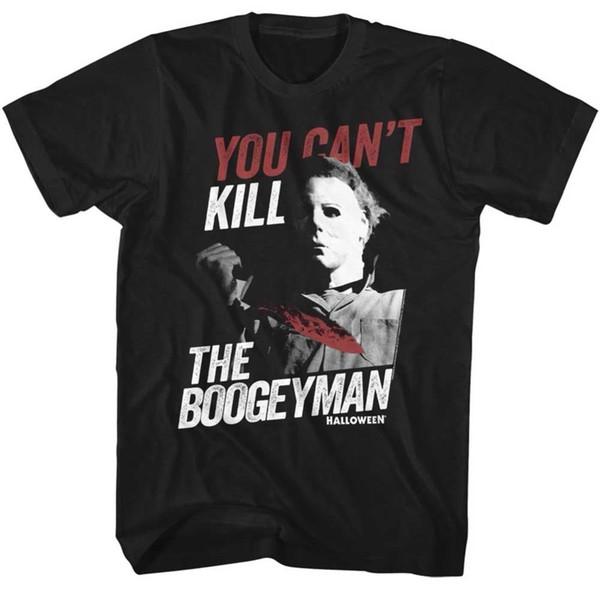 Custom Printed Shirts Short Sleeve Printing O-Neck Mens Halloween Boogey Man Michael Myers Slim-Fit T-Shirt S-3XL New Shirt