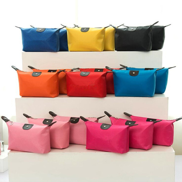 top popular Top Quality Lady MakeUp Pouch Waterproof Cosmetic Bag Clutch Toiletries Travel Kit Casual Small Purse Candy 10 Colors 2021