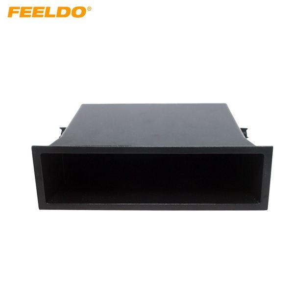 FEELDO 1DIN Autoradio Nachrüstung Armaturenbrett Einbau Montage Verkleidung Verkleidung Kit Box Spacer Für Nissan # 1570