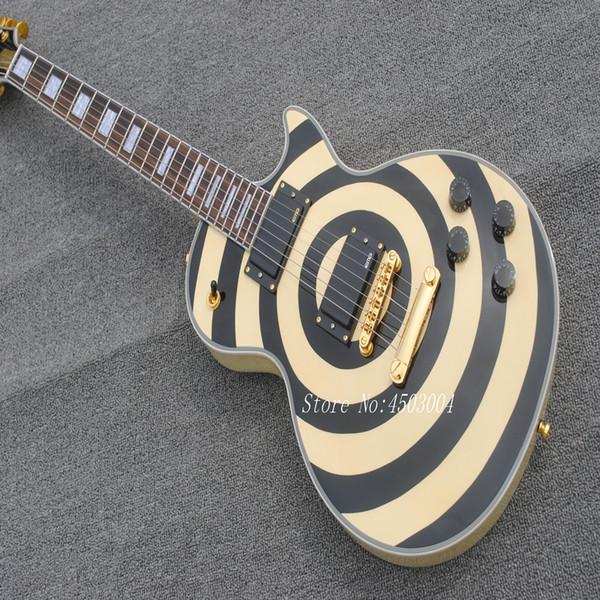 Frete grátis Zakk Wylde Modelo Guitarra Elétrica na cor Amarela e preta