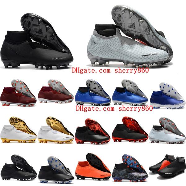 Zapatillas De Fútbol Para Hombre 2018 Phantom VSN Elite DF FG AG Para  Exteriores X EA Sports Phantom Vision Botas De Fútbol Scarpe Calcio Hot Por  ... 92594c3440897