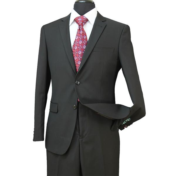 Nuovo Cheap 2018 Smoking dello sposo Groomsmen Side Vent Migliore vestito da uomo per matrimoni Abiti formali da uomo Bridgroom Groom Wear (Jacket + Pants) ST004