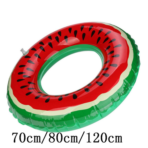 70cm /80cm/120cm funny PVC Bath toy Swimming Pool Inflatable Watermelon Swim Ring Adult Fruit Swim Ring x# dropshipping