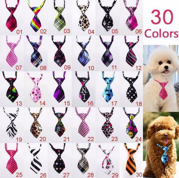 Wholesale 3pcs Fashion Polyester Silk Pet Supplies Clothing Clothes Dog Necktie Adjustable Handsome Bow Tie Necktie Sample
