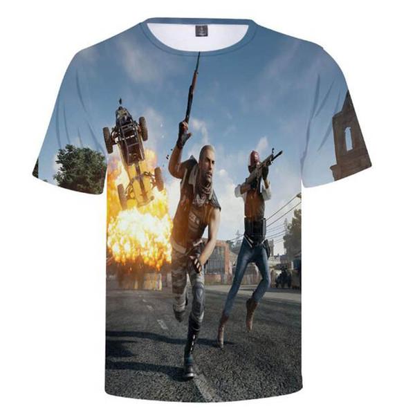 Großhandel Hohe Qualität Männer Aikooki Sommer Neue T Shirt 3D Volle Spiel PUBG T Shirt Männer Frauen 3D T Shirts PUBG Harajuku Männer Tops Von