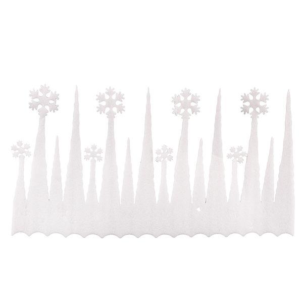 2pcs Window Navidad Decoration White Snowflake Ice Strip Christmas Xmas Decoration Ornament Festival Party Home Party Supplies