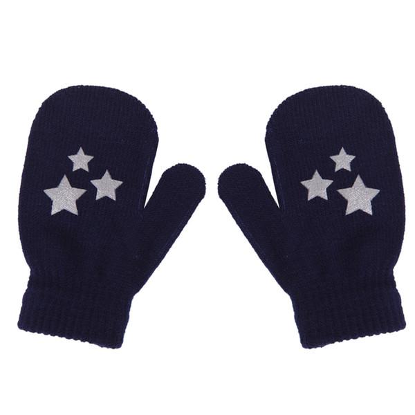 Дети точка Звезда сердце шаблон варежки мальчики девочки мягкий вязание теплые перчатки падение корабль #