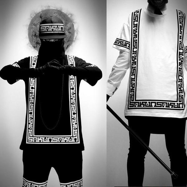 2018 Nueva Moda Verano Corto Conjunto Hombres Hip Hop Traje Conjunto Camiseta + pantalones cortos Tallas grandes M-5xl Hombres Jóvenes Ropa de Calle Para El Envío de La Gota