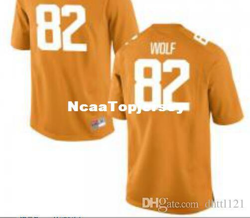 Cheap Men #82 Orange Ethan Wolf Tennessee Volunteers Alumni Jersey Stitched Football jerseys