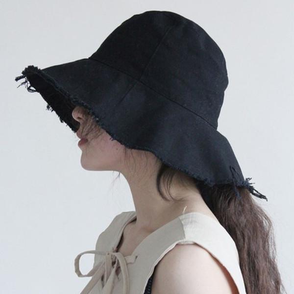 MAXSITI U Female burrs bucket hats contracted leisure folding washed soft cloth cap