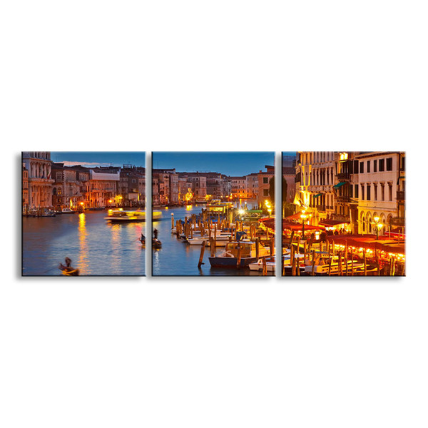 3 pieces high-definition print night view canvas prints painting poster and wall art living room picture CSYJ3-001