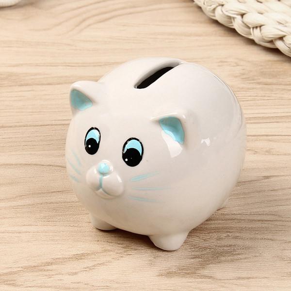 5 Unids / lote Nueva Clásico Creativo Favores de La Boda Parte De Atrás Regalos para Invitados Precioso Gato Piggy Bank Decoraciones Venta Caliente