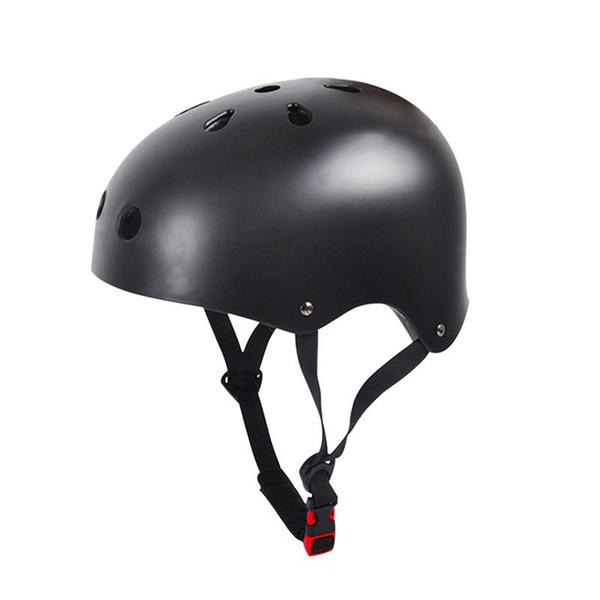 Impact Resistance Skate Scooter Skateboard Stunt Bike Crash Helmet Protective Gear for Adult and Kids (Black)
