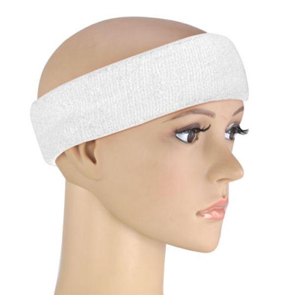 Neon Sweatband HEADBAND & 2 WRISTBANDS FANCY DRESS FUN RUN - white