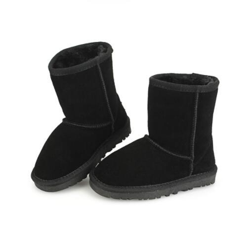 Boys and girls 281 snow boots flat winter children Australia snow boots leather autumn and winter warm non-slip cotton boots