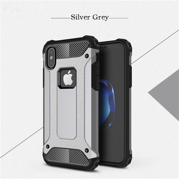 For iphone 7 plus case combo Shockproof for iphone x case Hard Plastic Soft TPU Rubber for Goophone Armor phone case