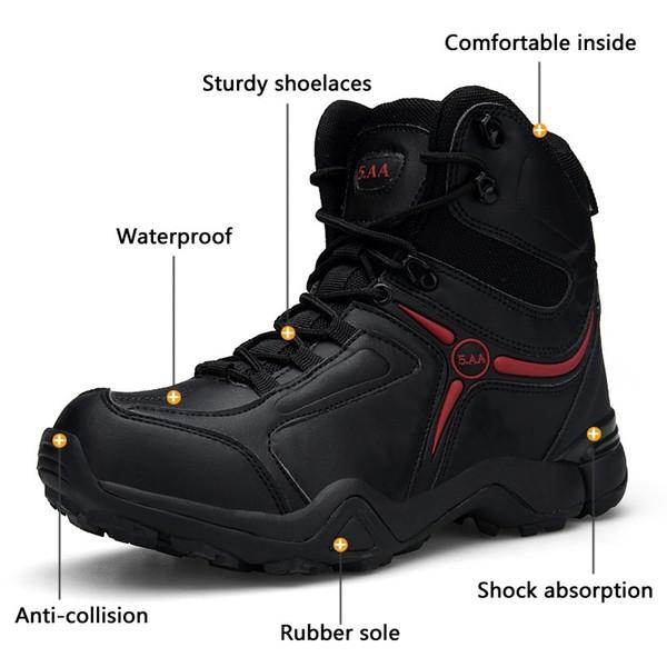Großhandel Männer Outdoor Ankle Boots Armee Taktische Wasserdichte Wanderschuhe Military Desert Combat Bergsteigen Anti Skid Wanderschuhe EUR39 46 Von