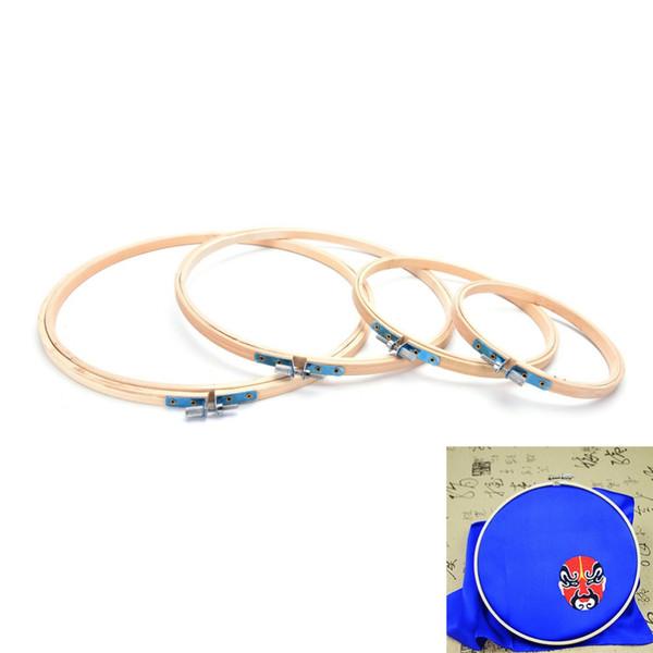 13 / 17cm Cross Stitch Machine Bamboo Frame Ricamo Hoop Ring Round mano fai da te Needlecraft Household strumento di cucito