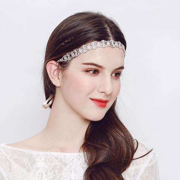 Luxury Rhinestone Flower Headpiece Wedding Hair Accessories Special Occasion Headbands Bridal Headband Tiara Bridal Crown Headband High Qua