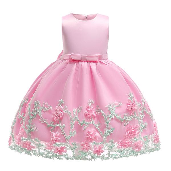 flower girl dress Baby Girls Party Dresses Kids Girl Dress 2018 Princess party christmas Gown Flower For Children Christmas Clothing