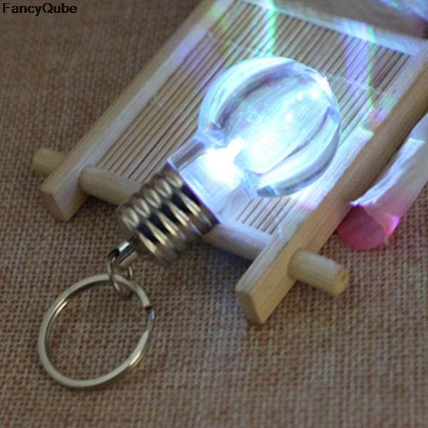 LED Flashlight Light Bulb Ring Portachiavi Lampada Catenelle portachiavi Portachiavi Crystal Portachiavi Portachiavi Donna Portachiavi