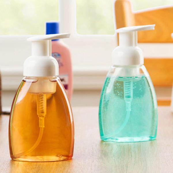 La pompa per le mani 250ml di plastica per il bagno Hotel sapone liquido schiuma chiara Make Up Shampoo Lotion Contenitori Bottiglie Detergente