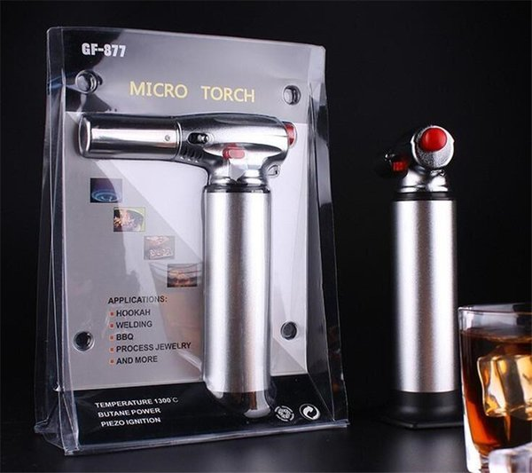 1300C Butane Scorch torch jet flame torch lighter kitchen Giant Heavy Duty Butane Refillable Micro Culinary Torch Self-igniting