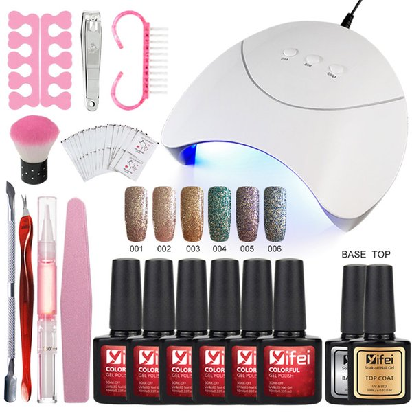 Wholesale Glitter Nail Gel With Nails Accessoires Soak Off LED Nail ...