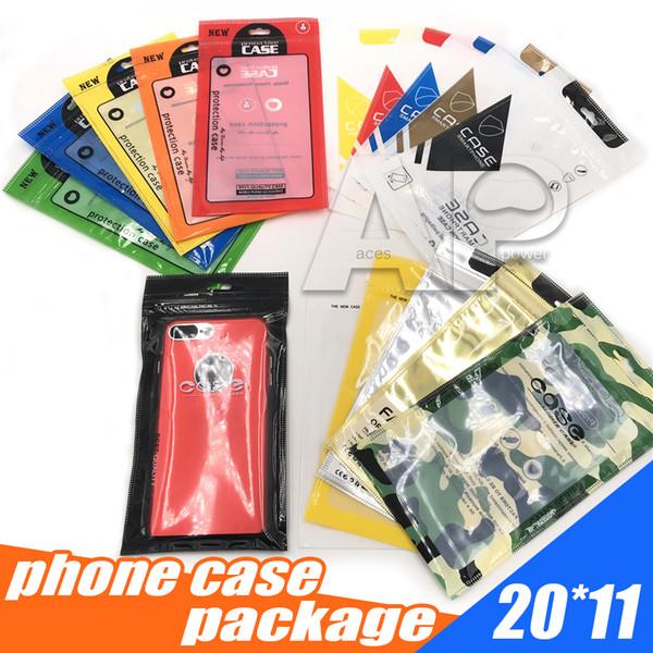 Чехол для телефона для Iphone X Samsung S9 S8 Plus Note 8 OPP Pack застежка-молния